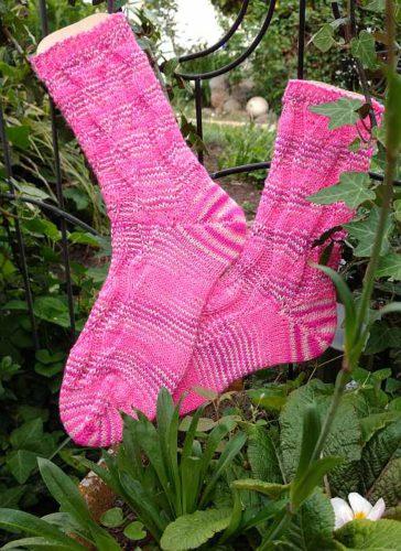 Stufenweise Pink